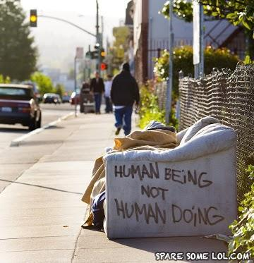 - Word play, a game even the homeless can enjoy.