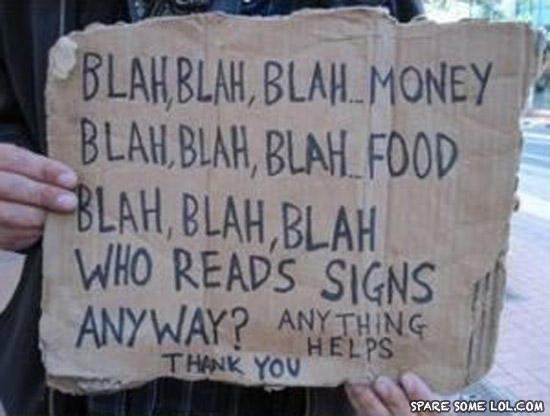 - Blah blah, money