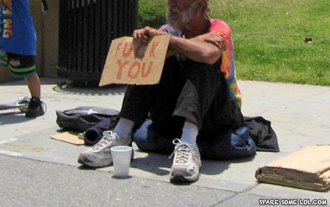 - BEGGING :YOUR DOING IT WRONG !
